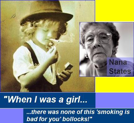 Nana smokes