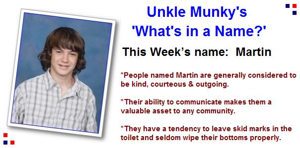 Whats in a name martin