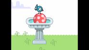169 Bird On Ball in Bird Bath