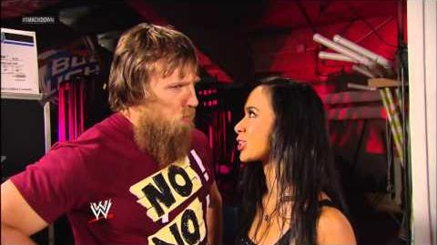 Daniel Bryan and a soaked AJ Lee are at odds again SmackDown, March 8, 2013