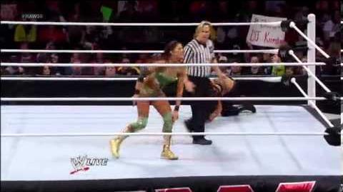 Kaitlyn vs. Eve - Divas Championship Match Raw, Jan