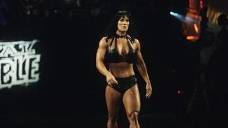 Chyna enters the Royal Rumble Match Royal Rumble 1999