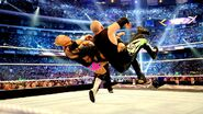Reigns double speared The-New-Age-Outlaws