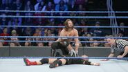 AJ Styles defeated James Ellsworth