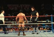 Undertaker against Jimmy-Snuka in WrestleMania 7