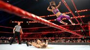 Bayley flying elbow on Charlotte