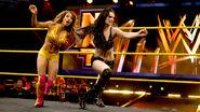 Paige tossing Sasha
