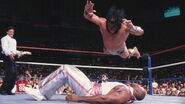 Jimmy Snuka splash on Virgil