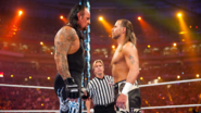 Undertaker face-to-face with Shawn
