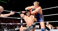 Jack-Swagger defeated Justin-Gabriel