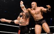 Bobby Lashley fighting Umaga WrestleMania 23