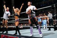 Cesaro with Tyson and Natalya