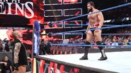 Orton staring at Rusev