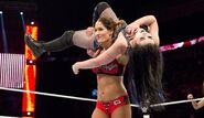 Nikki-Bella Sets-Up Paige for the Rack-Attack