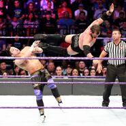 Aries drop-kick on TJ-Perkins