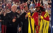 Heenan and Vince with Savage RAW