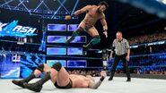 Mahal knee-drop on Orton