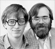 Bill Gates alongside Paul Allen
