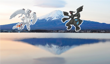 Pokemon at Mount Fuji