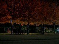 Bus stop in Richmond, Virginia