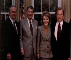 Ronald Reagan, Nancy Reagan and Morris Fletcher