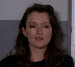 Lauren Kyte in the interview room