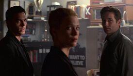 Alex Krycek, Marita Covarrubias and Fox Mulder