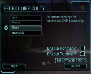 XCOM(EU) GameDifficulty
