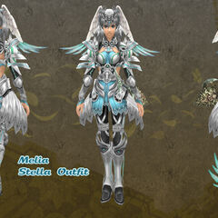 Melia in Stella outfit