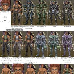 Reyn, with a compilation picture of all armour