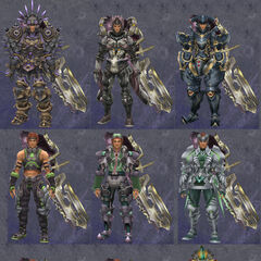 Compilation of Reyn's armour