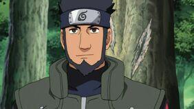Asuma witnessing Naruto jutsu