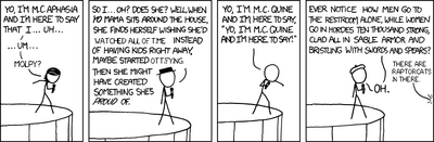 Open mic night (xkcd 785)