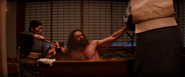 Logan getting bathed (Tokyo, Japan - The Wolverine)