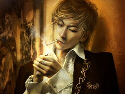 Fantasy CG Character wallpaper i-chen lin 20 Smoking Man