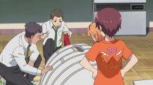 Minami ordering around Hayato's three friends