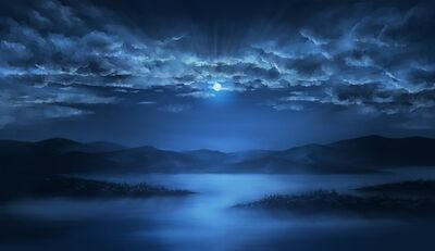1317574629 konachan.com-102620-clouds-landscape-moon-night-original-scenic-water