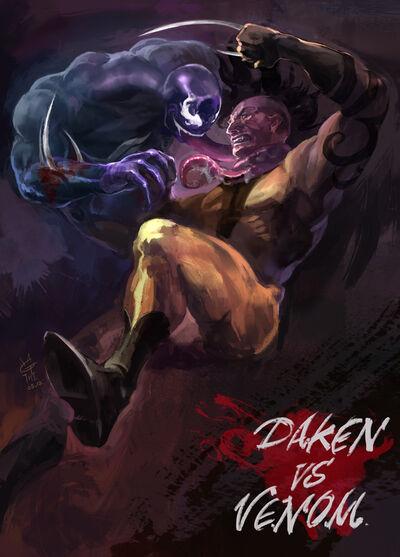 Daken vs venom by agathexu-d4z2wcf