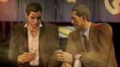 Majima refuses to bump Sagawa's drink before listening his deal