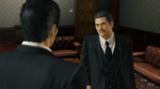 Fuma reliefs meeting Kiryu at his office