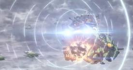 Megaluda Fires at Allied Fleet