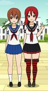 Naoko and Mina