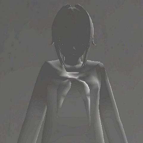 Antiga aparência da garota fantasma.