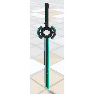 The Energy Sword in front of the school gates. May 1st, 2016.