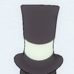English gentleman hat with moustache and pipe.