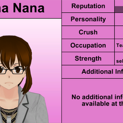 Reina Nana's 6th profile (bugged). March 31st, 2016.