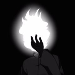 Flame Demon facepalming.