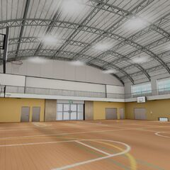 The southern side of the second gym's interior.