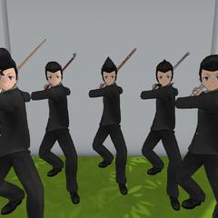 不良男學生準備她們的武器防禦自己
