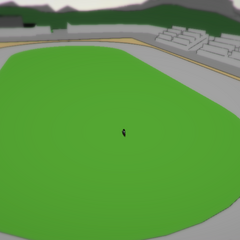 The prototype track, as seen when traveling through the first version of the town.